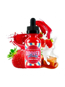 dinner lady strawberry custard 50ml